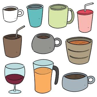 음료 컵 세트