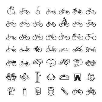 自転車アイコンのセット