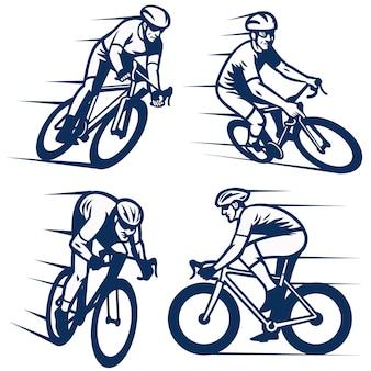 自転車レーサーのセット