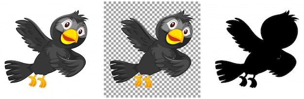 Набор символов птицы