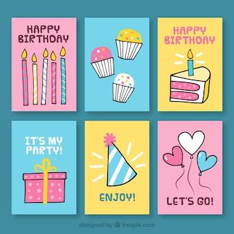 Набор поздравительных открыток с рисунками