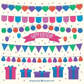誕生日の花輪のセット