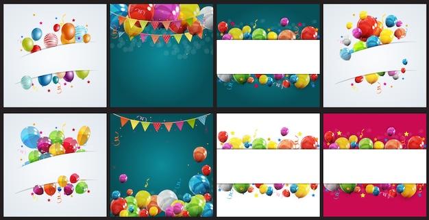 Набор тематических иллюстраций дня рождения