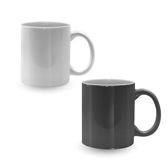 黒と白のマグカップのセット