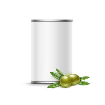 Набор ветвей маслин с листьями