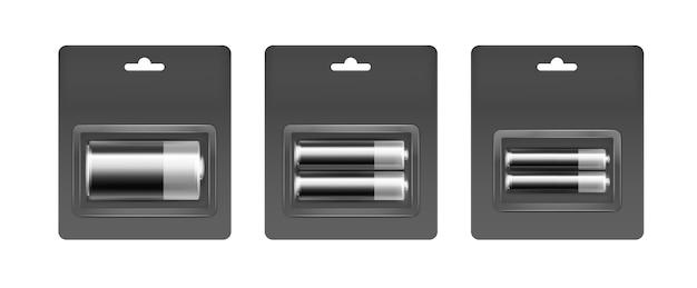 ブラックシルバーアルカリaa、aaa、c電池のセット