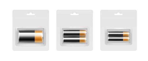 黒黄色アルカリaa、aaa、c電池のセット