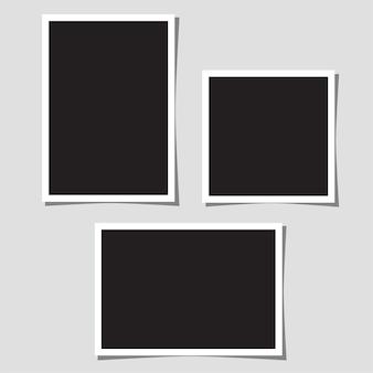 コラージュ用の空白の写真のセット。
