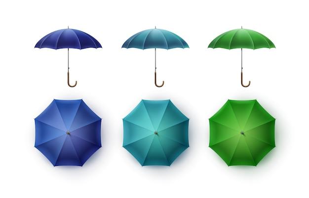 Набор зонтик от солнца сине-бирюзовый зеленый дождь