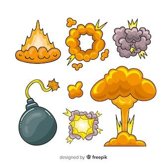 Набор эффектов взрыва бомбы