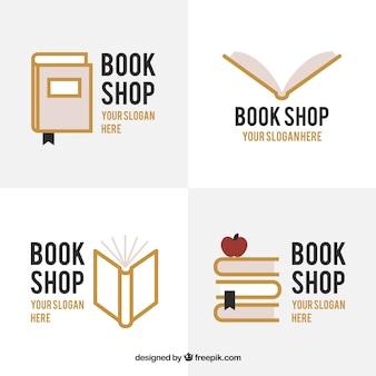 Набор книжных магазинов логотипов