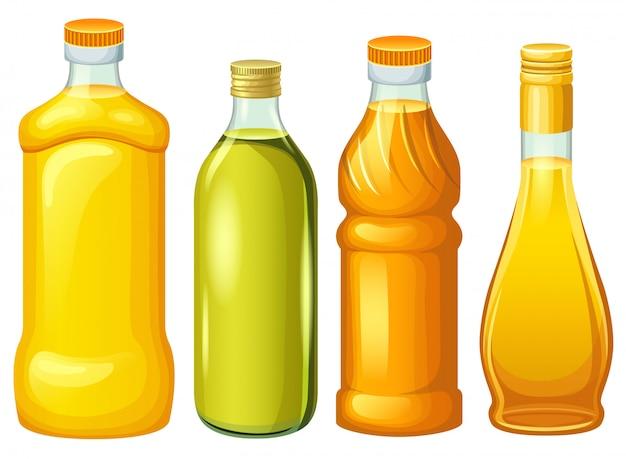 식물성 기름 병의 집합입니다.