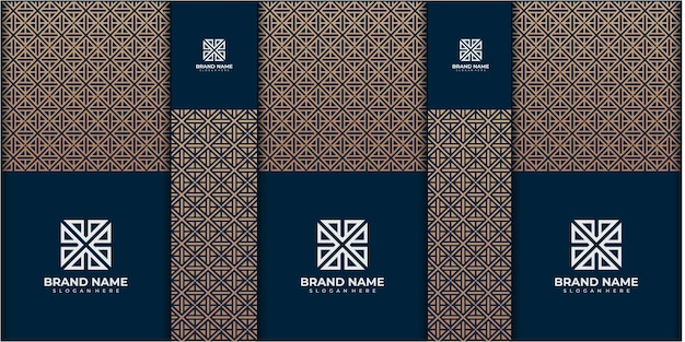 파스텔 패턴 그라데이션 배경이 있는 부활절, 광장, 휴일 등과 같은 특별한 날이나 선물을 위한 상자 또는 포장 디자인 일러스트레이션 템플릿 세트. 패턴 포장