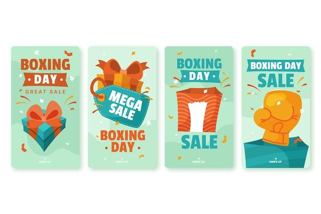 Набор историй о продаже в день бокса в социальных сетях