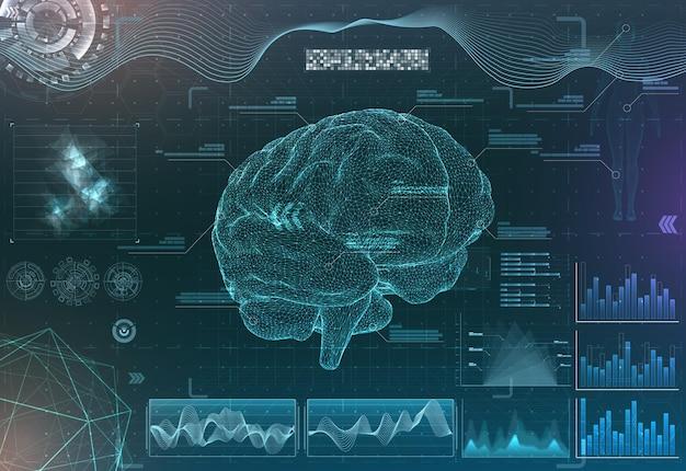 ブルートーンの脳研究インターフェース機能的磁気共鳴画像法のセット