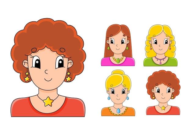 子供のための明るい色のステッカーのセット。
