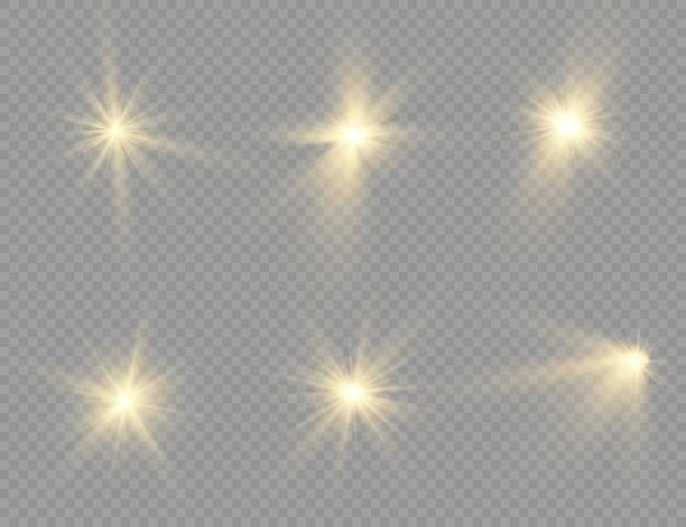 Набор яркой звезды.