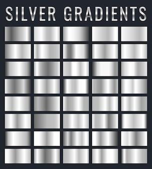 Набор блестящих пластин с серебряным эффектом
