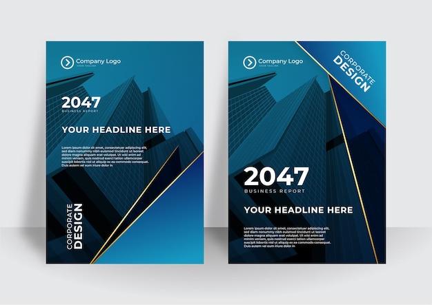 Набор брошюры, годовой отчет, шаблоны дизайна флаера в формате a4. векторные иллюстрации для бизнес-презентаций, деловых бумаг, обложек корпоративных документов и шаблонов макетов