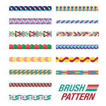 브러쉬 패턴의 집합입니다. 원활한 브러쉬.