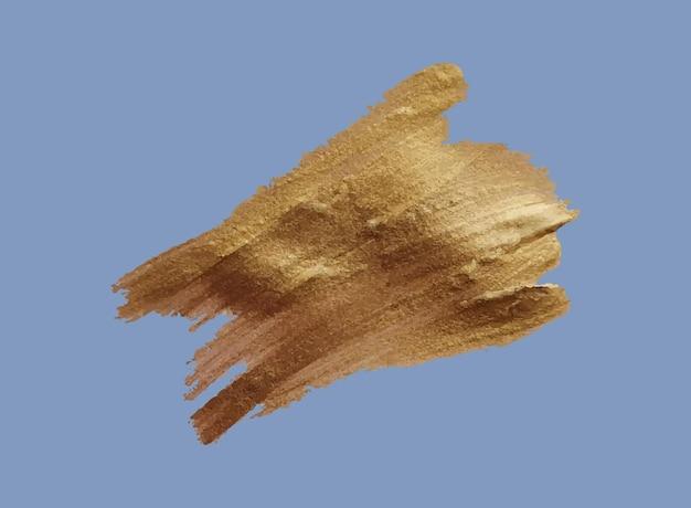 Набор мазков кисти гранж-дизайн золотые краски чернильные кисти грязные художественные коробки рамки золотые линии