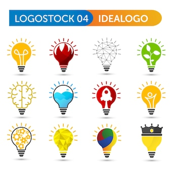 Set of bulb logo shape
