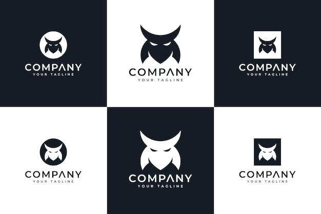Набор креативного дизайна логотипа маски бусидо для всех целей