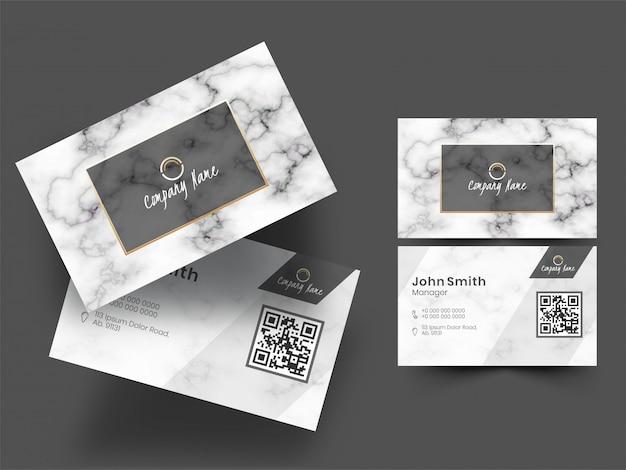 ビジネス会社カードまたは名刺のセット