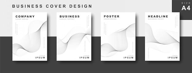 Набор бизнес дизайн обложки