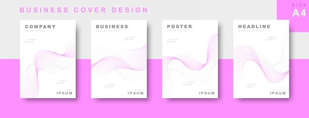 Набор делового дизайна обложки