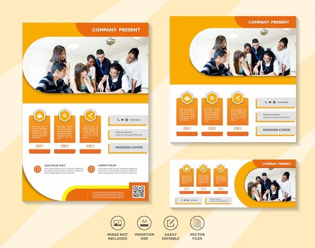 デジタルマーケティングモバイルソリューションネットワーキングのビジネスデザインテンプレートのセット