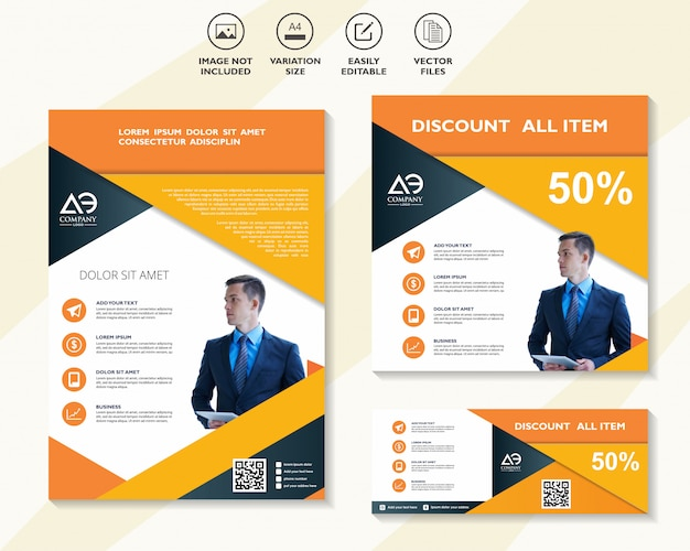 Набор шаблонов бизнес-дизайна для сети мобильных решений цифрового маркетинга