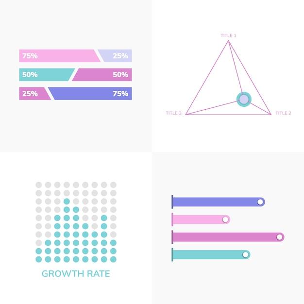 비즈니스 infograph 벡터의 집합