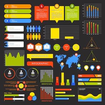Набор бизнес инфографики векторов