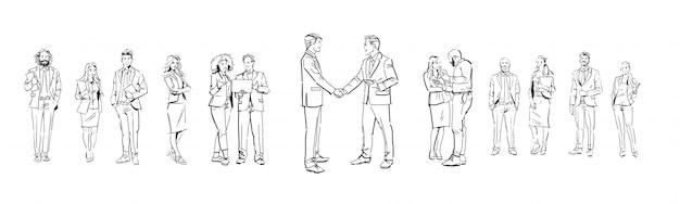Набор деловых людей иллюстраций