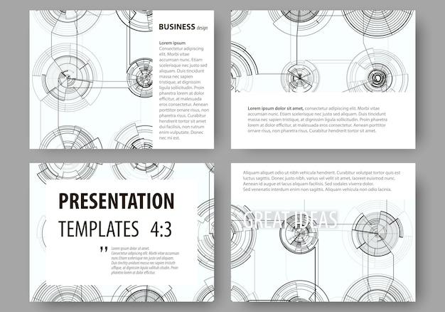 Набор бизнес-шаблонов для слайдов презентации