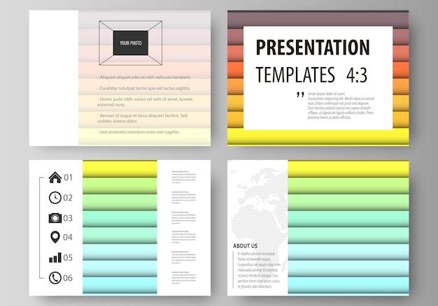 Набор бизнес-шаблонов для слайдов презентации.