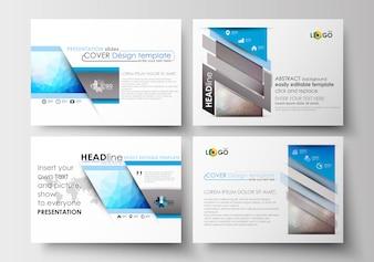 プレゼンテーションスライド用のビジネステンプレートセット