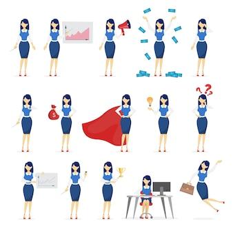 Набор деловой женщины или офисного работника