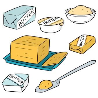 버터 세트 프리미엄 벡터