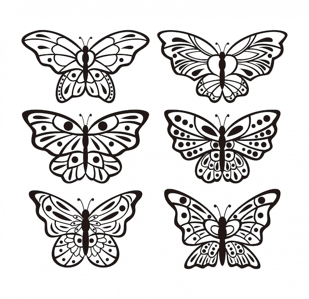 蝶のセット