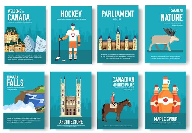 Набор путешествия путешествие украшение страны канада
