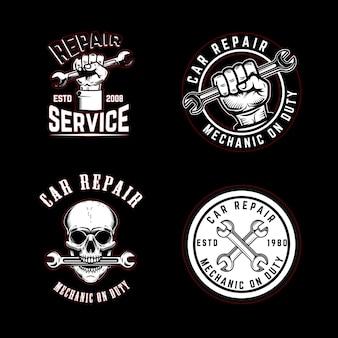 Набор эмблем ремонта автомобилей