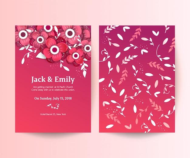 花とカードのセット