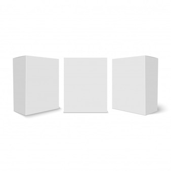 Set of cardboard boxes for your design