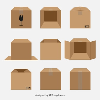 Set of cardboard boxes to shipping