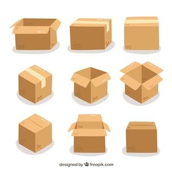 Набор картонных коробок для транспортировки