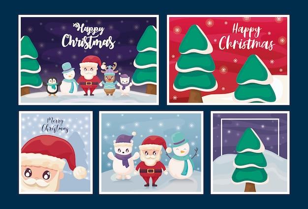 Набор открыток с рождеством