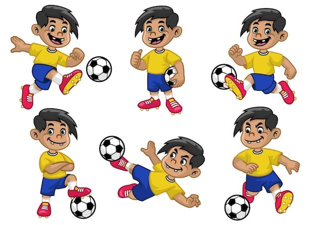 Набор мультфильм счастливый футболист
