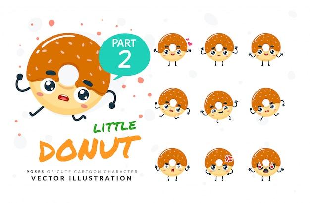 Набор мультфильм позы пончик.